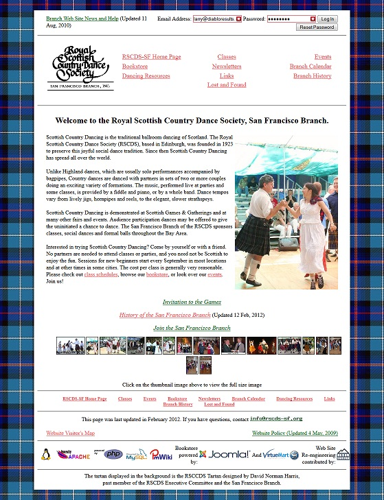 Royal Scottish Country Dance Society – SF Branch